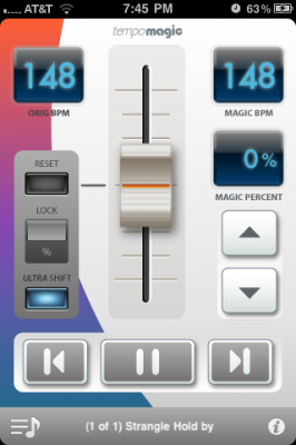 Tempo Magic Pro iPhone App for your Indoor Cycling Class can