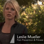 Pain prevention expert Leslie Mueller