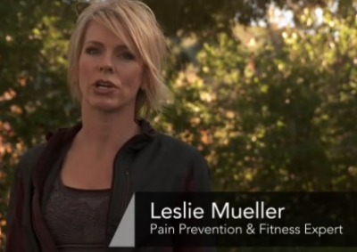 Pain prevention expert Leslie Mueller