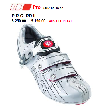 Discount Spinning shoes from pearl izumi