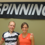 Jennifer Lintz and Spinning Master Instructor Seth Dedmon at her Certification