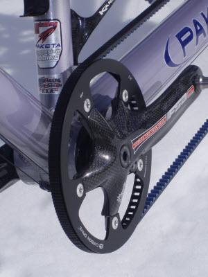 Belt drive spinning bike