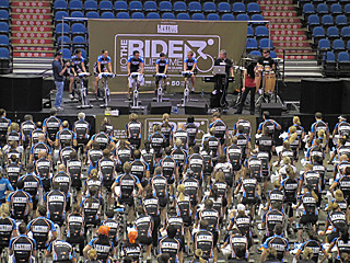life time fitness world record indoor cycling class