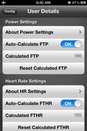 FreeMotion iPhone App Calculates your Functional Threshold Power FTP and Heart Rate