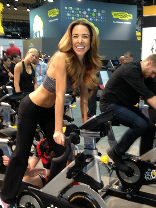 This fitness model could have been Jillian Michaels' younger sister - I didn't ask.