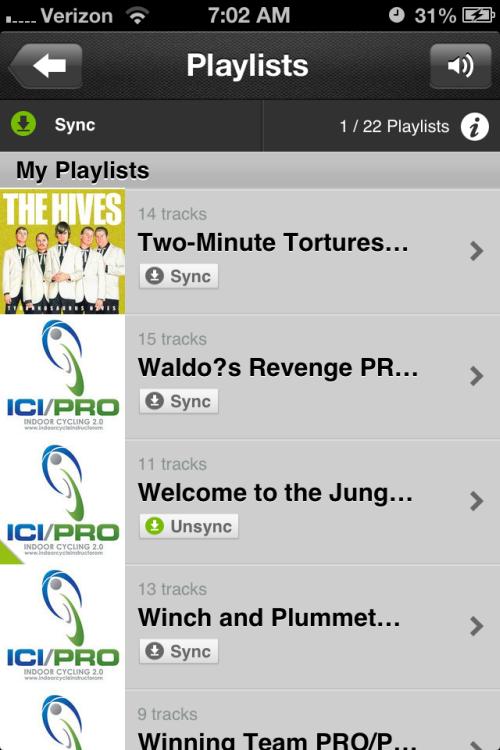 Sync Music on Deezer iPhone App