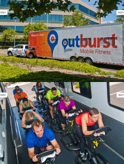 Outburst mobile fitness spinning classes