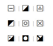 Spinning Symbols and Fonts