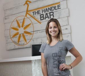 Jessica Bashelor at the Handle Bar Cycling Studio