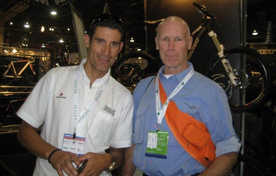 Tommy Taylor with George Hincapie