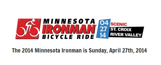 Mn Ironman bike ride.