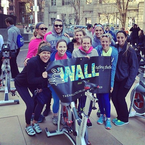 Fun pic from Julie's facebook.com/TheWallCyclingStudio