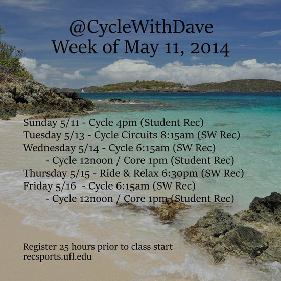 Create your cycling class schedule image to post