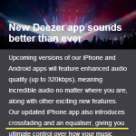 Deezer iPhone App Crossfade and EQ Equalizer