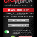 Class Builder from Cycling Fusion uses Spotify