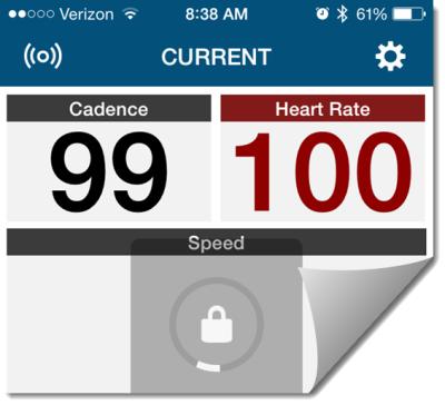 Wahoo Indoor Cycle Cadence sensor and iphone app