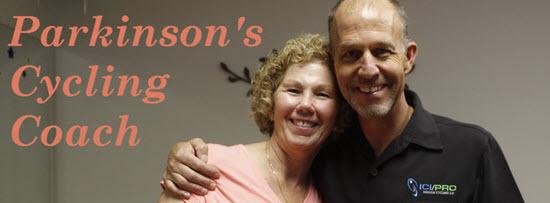 Parkinson's Cycling Master Coach Kathy Helmuth and John Macgowan