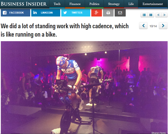 Pro cyclist teaching high cadence standing climbs