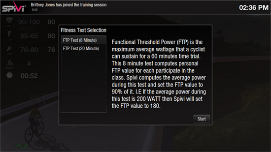 Spivi 8 or 20 minute Threshold Power Test