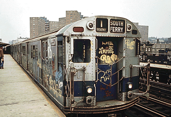 NYC subway trains don't look like this anymore :)