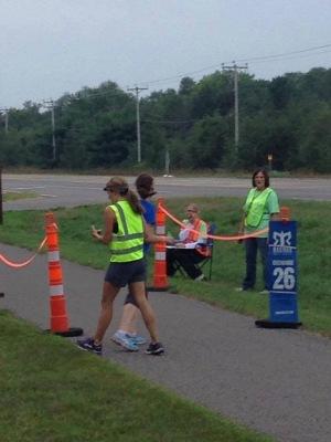 This was me finishing my last leg of the race. Felt good!