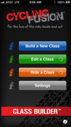 Class Builder indoor cycling music app for iPhones