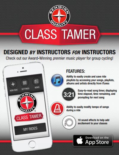 Schwinn Class Tamer Indoor Cycling Instructor iPhone App