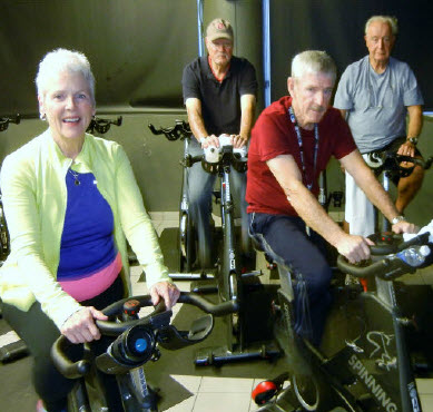 Senior Indoor Cycling Class
