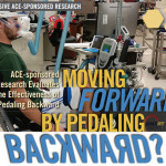 ACE study on pedaling an indoor cycle backwards