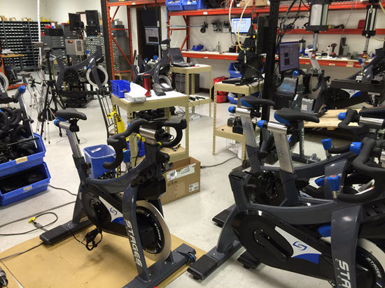 Quality control - Early production Stages SC3 cycles are unboxed and checked for any defects.