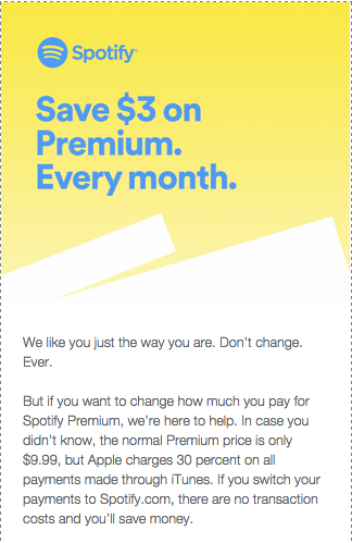 Stop paying iTunes for Spotify