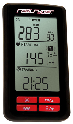 RealRyder Indoor Cycle Power Watts Console