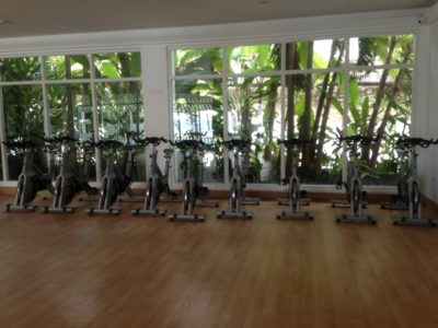 Spin bikes in facility