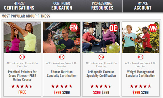 Free ACE group fitness cec