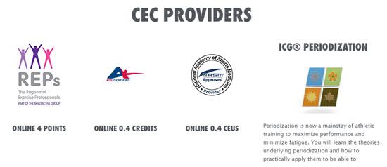 ICG Indoor Cycle Instructor CEC online