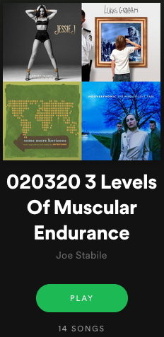 The Weekly Ride – 02/03/20 3 Levels Of Muscular Endurance