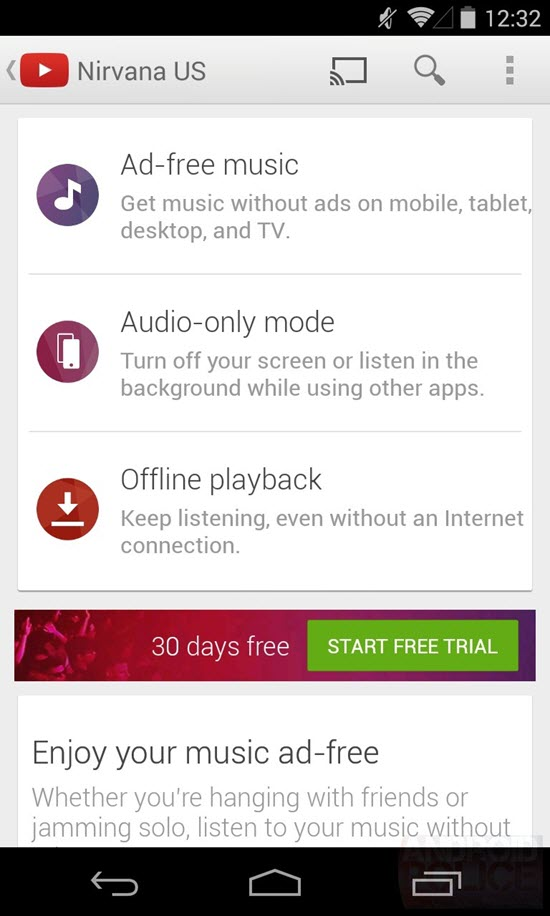 New YouTube Streaming Music Video Service?